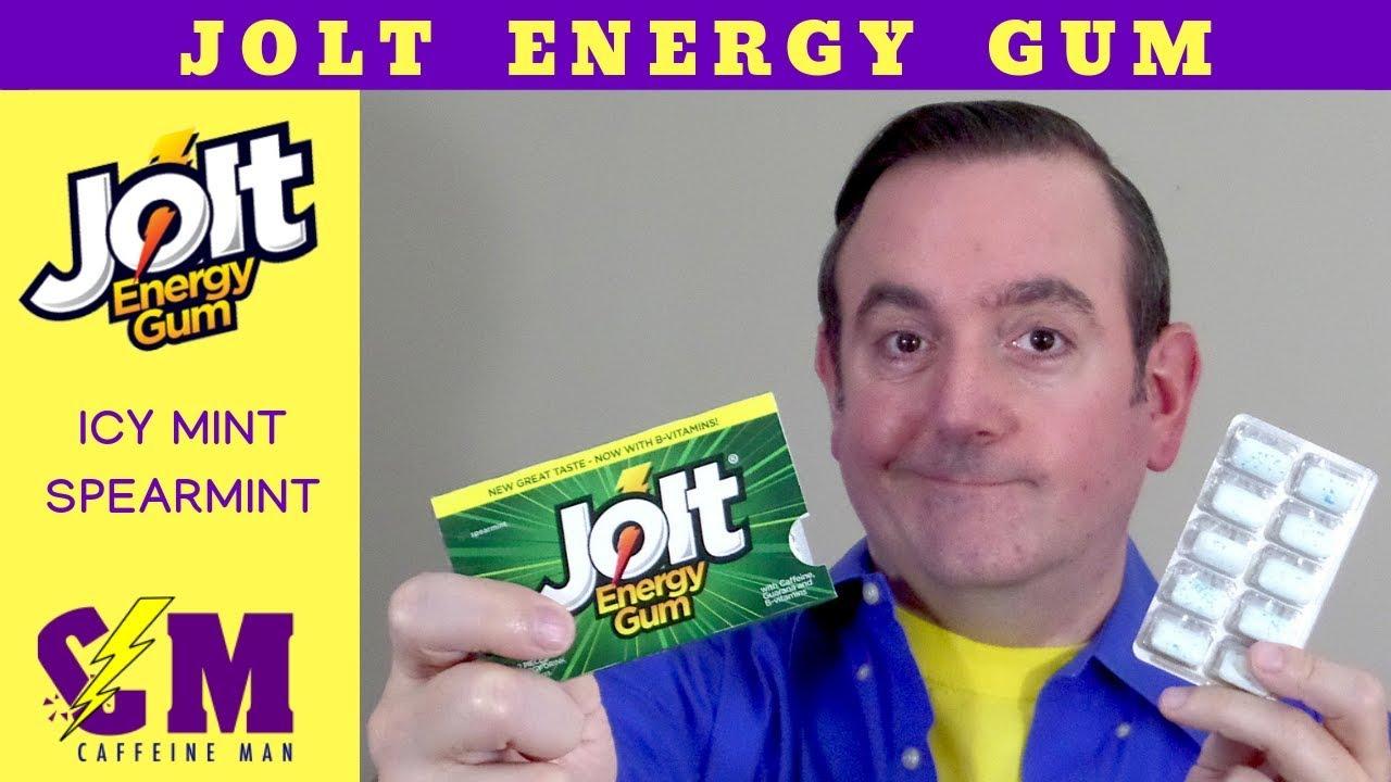 Jolt Energy Gum  Caffeine gum review of Jolt Energy Spearmint gum and Jolt  Energy Icy Mint