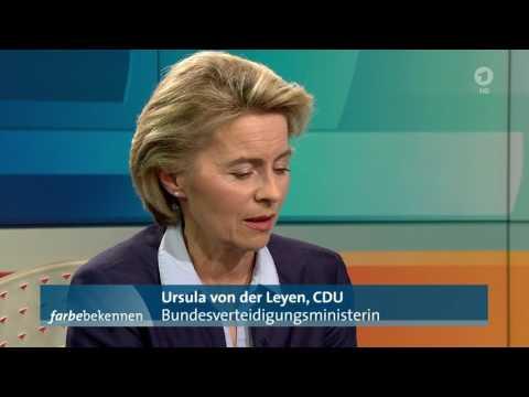 Ursula von der Leyen in ARD-  Farbe bekennen: Die Ministerin will Ministerin bleiben