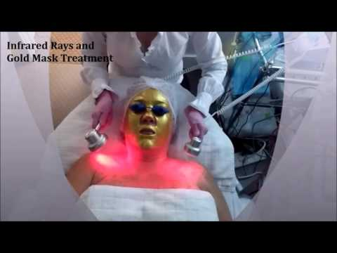 Infrared Rays and Gold Mask Treatment For Skin Care