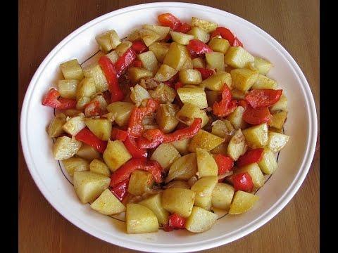 Картошка с болгарским перцем