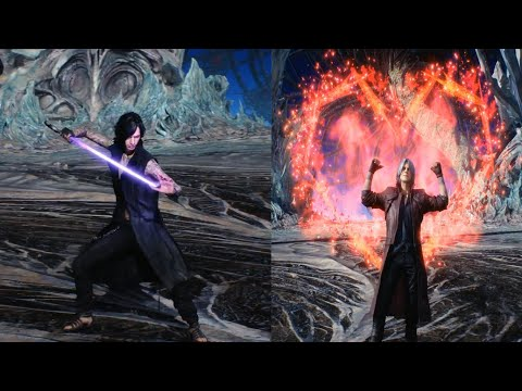 Devil May Cry 5 - ALL ENDINGS Bloody Palace (DMC5 2019) - Dante, Nero & V