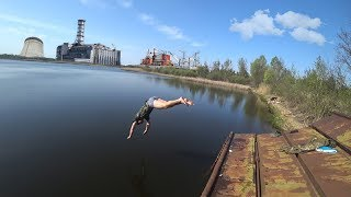 Искупался в реке Припять. Подвал медсанчасти 126. Самое радиоактивное место в Чернобыле