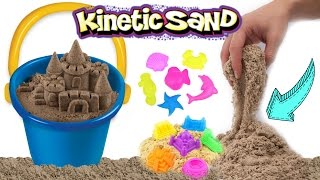 KINETIC BEACH SAND!! How To Make Kinetic Sand Sculptures   DIY Kinetic Sand Castle Kids Toy!!