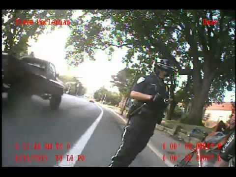 Cyclist gets Ticket for Riding on Bike Lane White Line Ashland Police