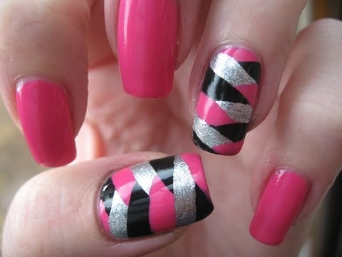 Nail Art: Fish tail rockstar nails