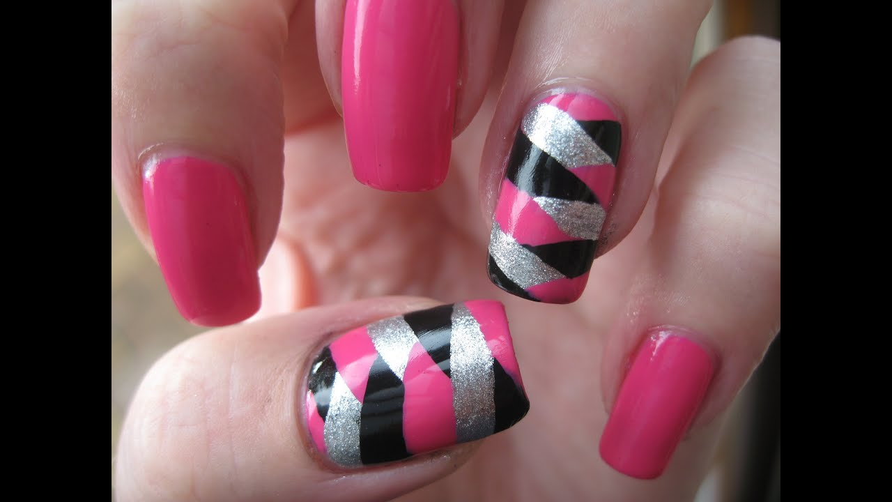 Nail Art: Fish tail rockstar nails - YouTube