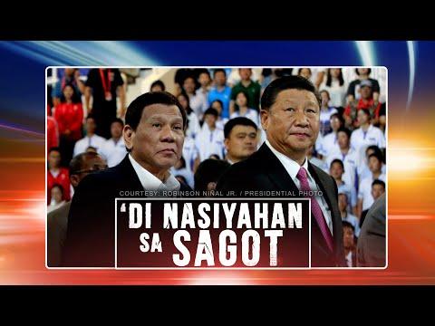 24 Oras: President Duterte, di raw nakuntento sa sagot ni President Xi kaugnay ng arbitral award