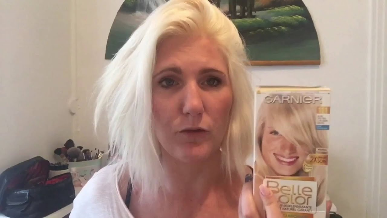 Test Poils De Tête Coloration Garnier Belle Color 111 Blond Très
