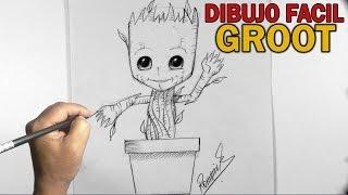 Como Dibujar A BABY GROOT l Paso a paso