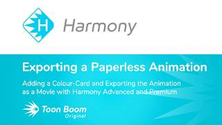 So Fügen Sie eine Farbe-Karte, und Exportieren Sie die Animation als Film mit Harmony Advanced und Premium