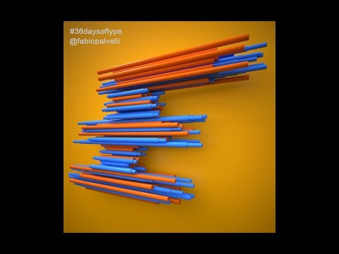 Cinema 4d and V-Ray 36 days of type live
