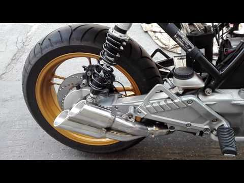 BMW K100  muffler on right side