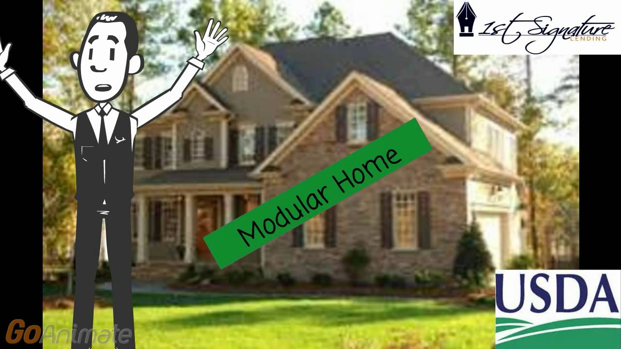 Usda modular home construction loan youtube for Building a house with usda loan