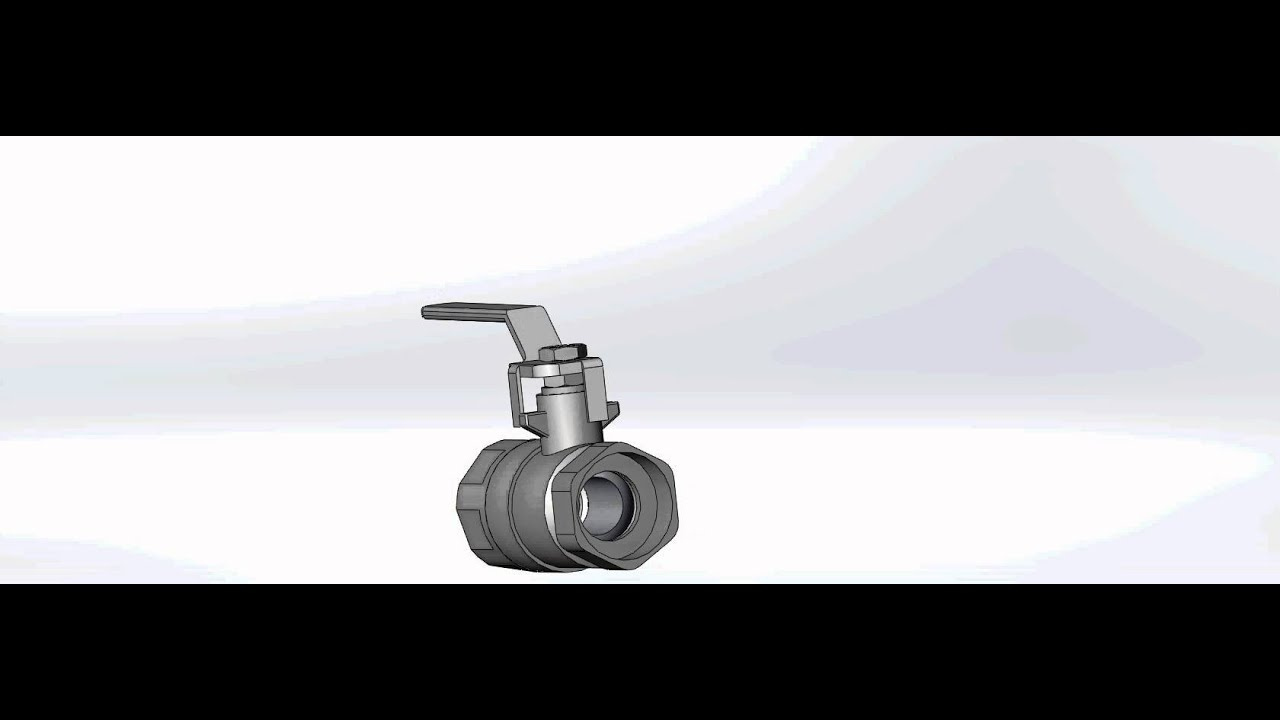 Solidworks llave de paso esf rica movimiento youtube for Llave de paso de agua