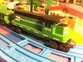 Whittle Shortline Burlington Northern Railroad Wooden Train in motion (000005)
