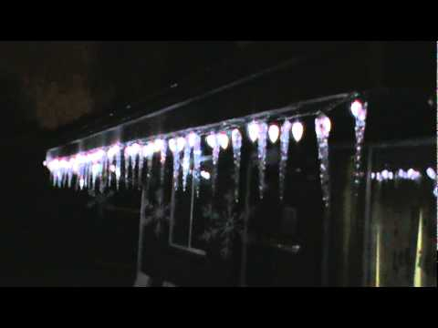 Dripping icicle lights and C-9 lights - YouTube