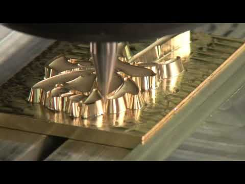 DATRON Engraving Machine - Rose Embossing Die - YouTube