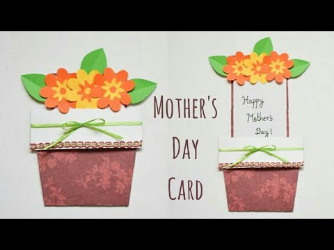 DIY Mother's Day Flower Pot Card | Handmade Mothers Day Gift Ideas | Cute Ideas for Mother's Day
