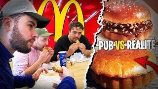 Dégustation Burger au Chocolat de McDonald's avec TheKairi, Lebouseuh, Doc et Pidi !