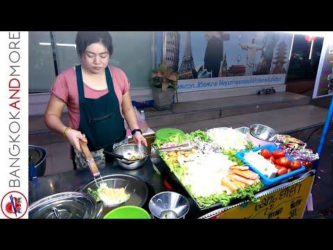 Thai Street Food Cooking Bangkok - The Food Stalls Around Ratchathewi BTS