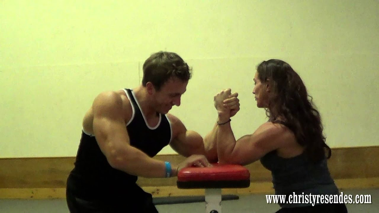 Male And Female Bodybuilder Wrestling - Full Naked Bodies-3771