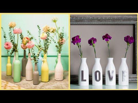 wine-bottles-decoration-ideas-||-bottles-craft-for-home-decoration