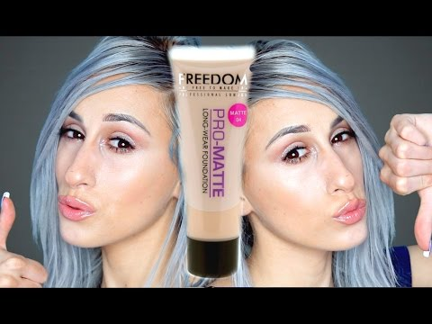 FREEDOM MAKEUP Matte Foundation | REVIEW + DEMO!