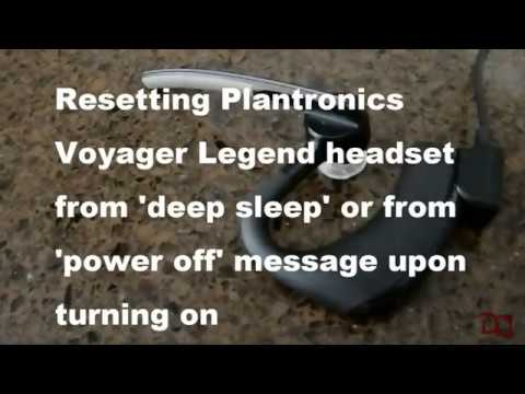 Plantronics Voyager Legend Reset Youtube