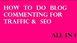 How to Do Blog Commenting in SEO for High Quality Backlinks | Blog Commenting Tutorial