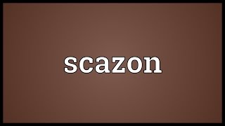 Scazon Meaning