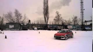 Урок экстремального вождения. Зима. Киев. www.carbon.co.ua