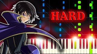 COLORS (Code Geass OP 1) by FLOW - Piano Tutorial