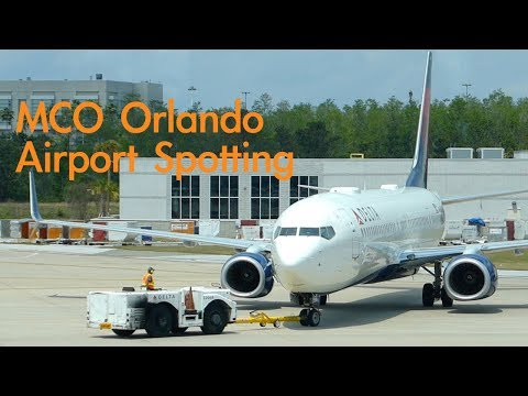 MCO Orlando International Airport Terminal Spotting - B757, B737, B777, etc.