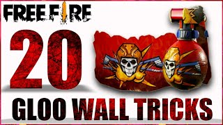 TOP 20 GLOO WALL TIPS AND TRICKS IN FREE FIRE