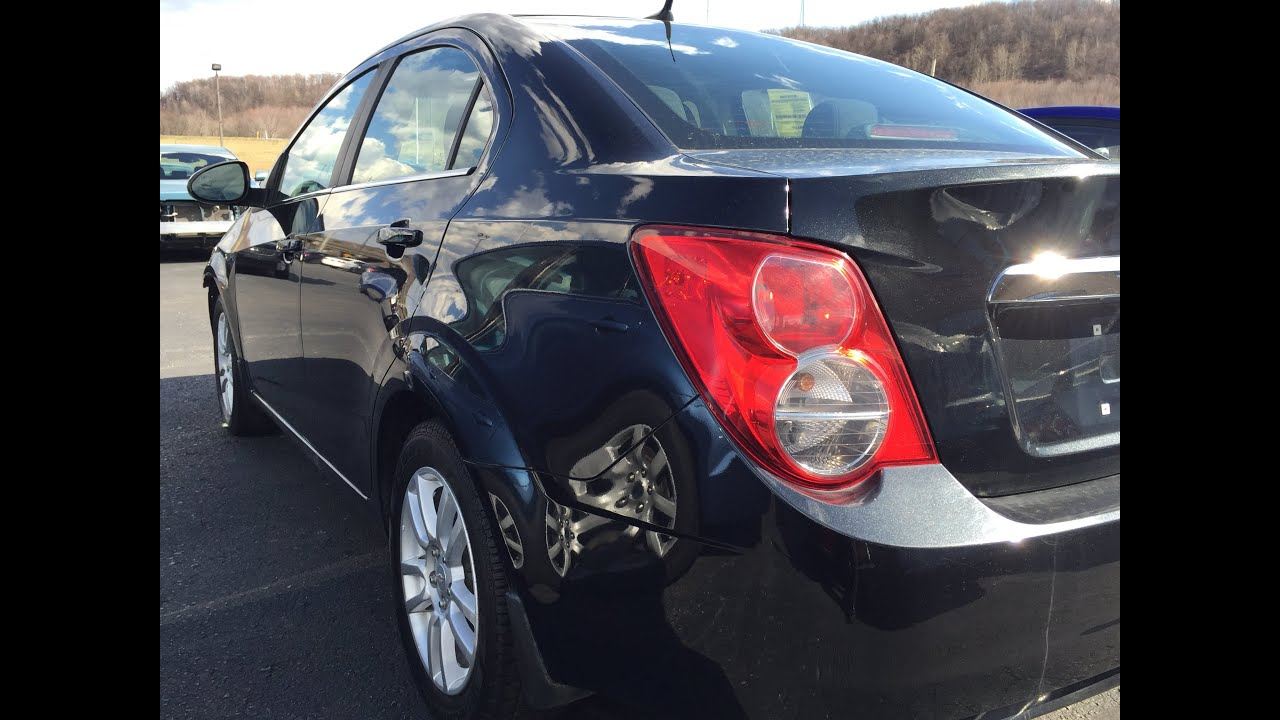 2013 Chevrolet Sonic black salvage title near Pittsburgh pa stock