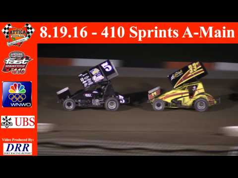 8.19.16 Attica Raceway Park 410 Sprints A-Main