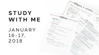 Study With Me: January 16 - 17, 2018