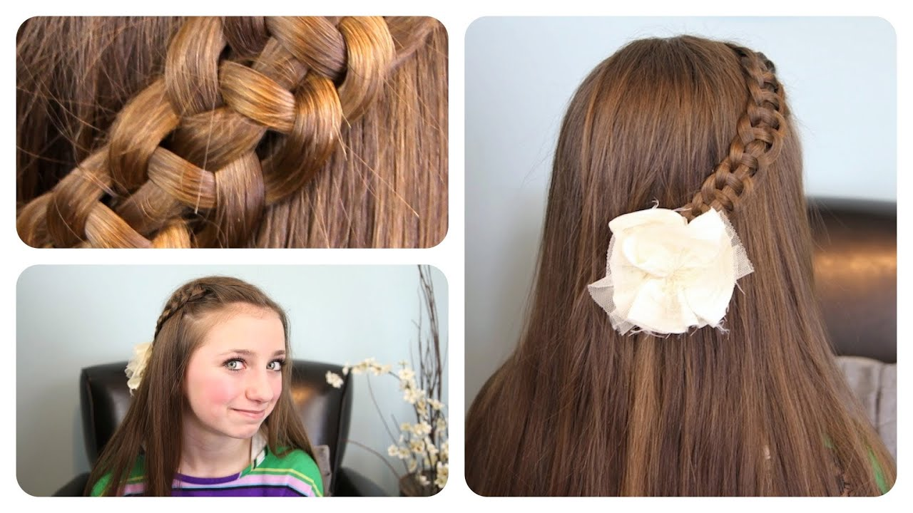"4 Strand ""Slide Up"" Braid Cute Girls Hairstyles YouTube"