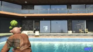 GTA5 【フランクリン家にイタズラ! そしたら電話で怒られました】(GTAV PS3 日本語版)