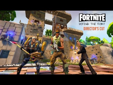 Defending the Fort Director's Cut - Fortnite Gameplay