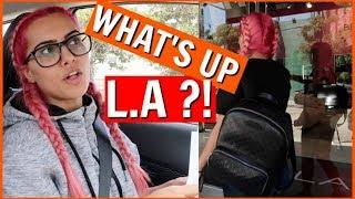 LifeOfLaiba | LA trippin' + DAY 2 as a pink head
