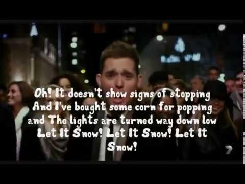 Michael Buble  Let It Snow  Lyrics