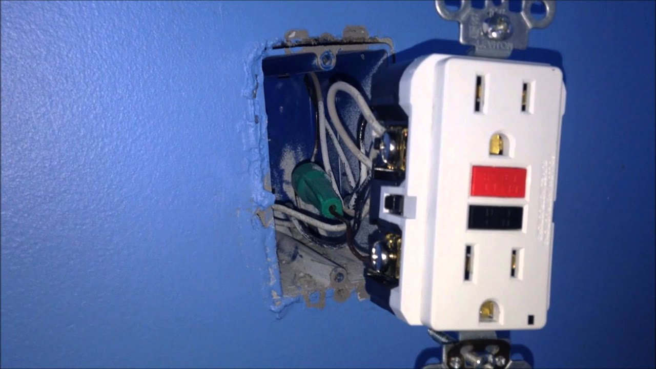 How To Install A 15amp Gfci Outlet Youtube Wiring