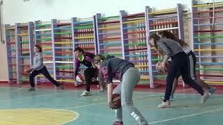 Баскетбол. Круговая тренировка. 7 класс. Девушки.