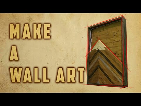 Woodworking : MAKE A WALL ART from scrap wood