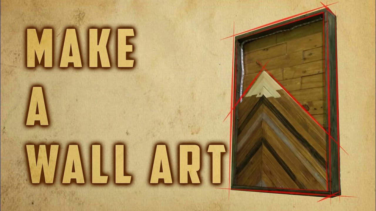 Woodworking : MAKE A WALL ART from scrap wood - YouTube