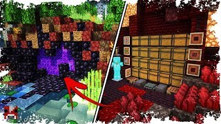 Minecraft Timelapse - BASE behind a NETHER PORTAL! - (WORLD DOWNLOAD)