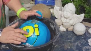 Beton giessen - DIY - Betonkugel im Ball - verbesserte Methode mit euren Tips