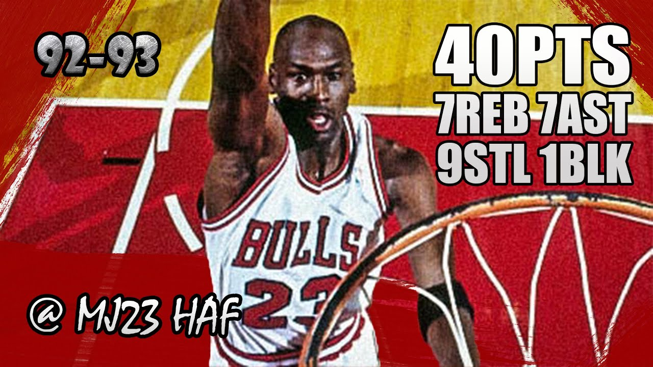 f4e819913604 Michael Jordan Highlights vs Nets (1993.04.02) - 40pts
