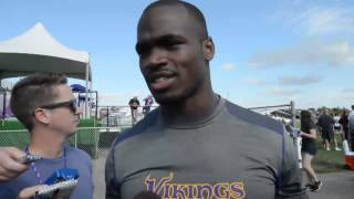 Video: Adrian Peterson At Vikings Training Camp